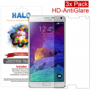 Halo Screen Protector Film Clear Matte (Anti-Glare) for Samsung Galaxy Note 4 (3-Pack) - Premium Japanese Screen Protectors