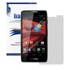Halo Screen Protector Film Invisible (Clear) for  Motorola XT926 (DROID RAZR HD)   (3-Pack) - Premium Japanese Screen Protectors