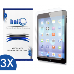 Halo Screen Protector Film Invisible (Clear) Apple iPad Air  (3-Pack) - Premium Japanese Screen Protectors