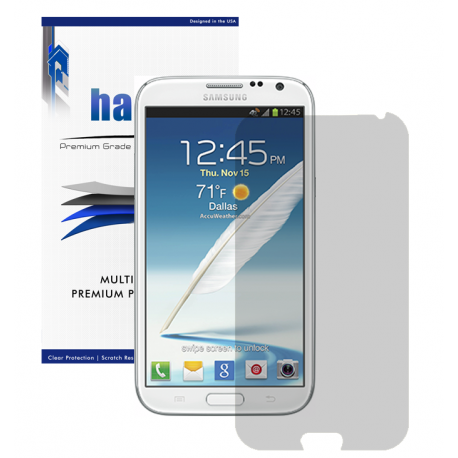Halo Screen Protector Film Invisible (Clear) for Samsung Galaxy Note 2  (3-Pack) - Premium Japanese Screen Protectors