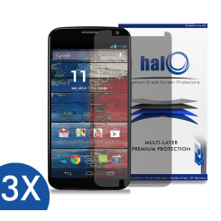 Halo Screen Protector Film Invisible Clear  (Invisible) for Motorola Moto X (3-Pack) - Premium Japanese Screen Protectors